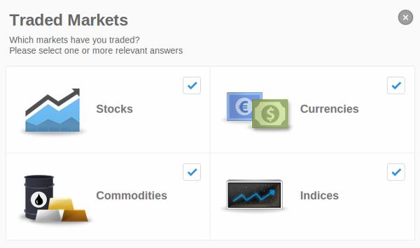 تا به حال در کدام یک از بازارهای زیر داد و ستد کرده اید؟