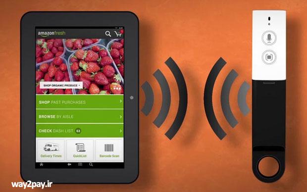 سفارش کاربر از طریق شبکه وایفای خانگی به سبد خرید حساب کاربری آمازون فرش کاربر اضافه میشود