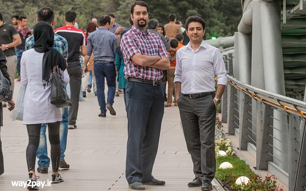 محمدجواد شکوری مقدم از آپارات موسس آپارات (سمت چپ) و حمید محمدی یکی از موسسان دیجی کالا (سمت راست)