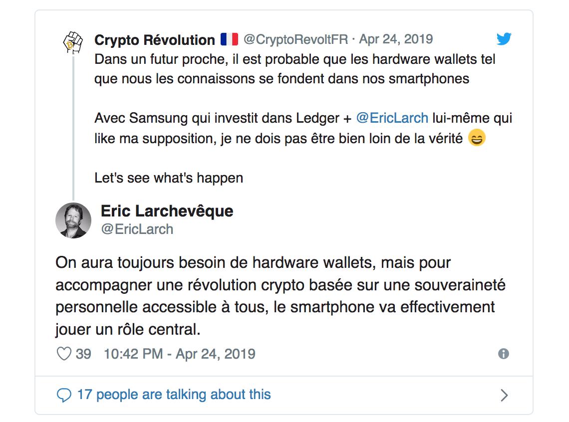 توییت اریک لاشورک