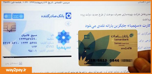 شباهت خیلی زیاد طرح کارت سهمیا با کارت بانک سامان - حتی 8 شماره اول مشابه کارت سامان است